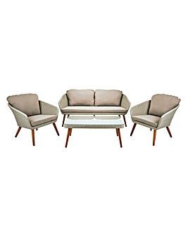 Milano Rattan 4 Piece Lounge Set