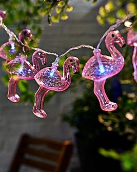 Flamingos Solar String Light