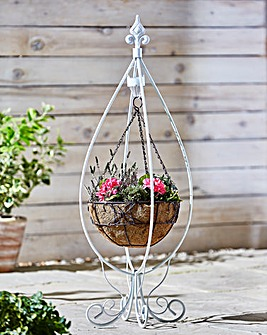 Hanging Basket Stand with Solar Light