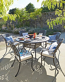 Kingston 6 Seat Dining Set & Lazy Susan