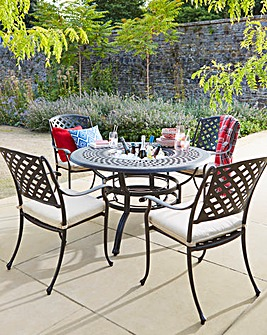 Kingston 4 Seat Dining Set & Ice Bucket