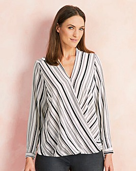 Long sleeve Wrap Shirt