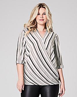 Long sleeve Wrap Shirt