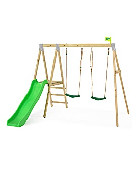 TP Forest Multiplay Wooden Swing & Slide