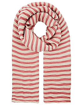 Accessorize Pleated Stripe Scarf