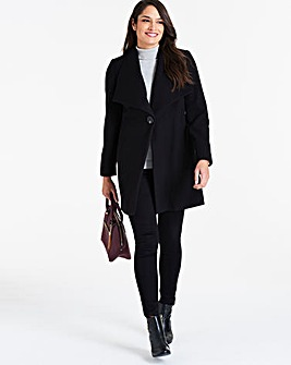 Black Large Collar Coat