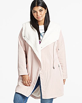 Faux Shirling Lined Soft Parka
