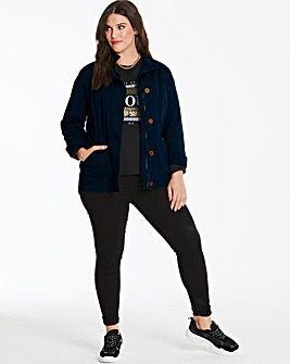 Navy Stretch Cotton Utility Jacket