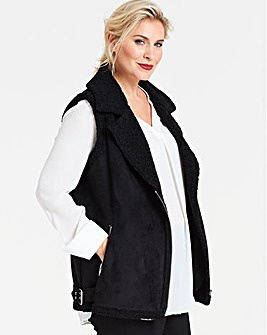 Sleeveless Faux Fur Borg Gillet