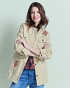 Embroidered Utility Jacket