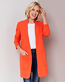 Deep Orange Crepe Jacket