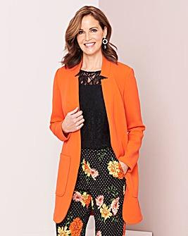 Deep Orange Crepe Jacket
