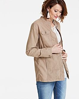 Linen Four Pocket Utility Jacket