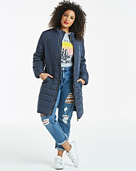 Plain 3/4 Padded Jacket
