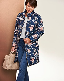 Print 3/4 Padded Jacket