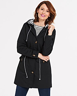 Hooded Contrast Casual Jacket