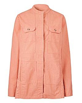 Linen Four Pocket Utility Jacket