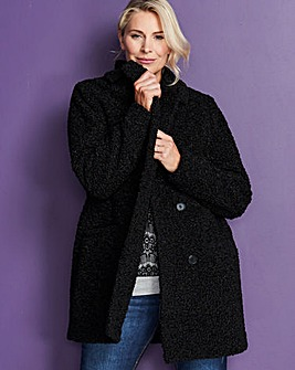 Black Teddy Faux Fur Coat