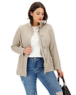 Sand Linen Utility Jacket