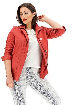 Paprika Linen Utility Jacket