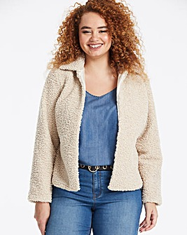 Cream Teddy Faux Fur Collar Coat