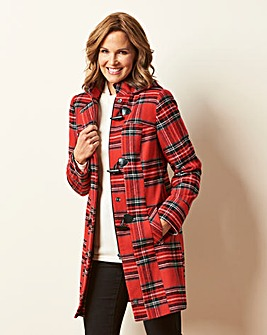 Red Check Duffle Coat