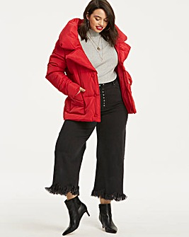 Short Red Puffer Jacket