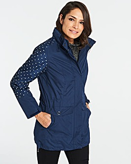 Navy Spot Water-Resistant 3 in 1 Jacket