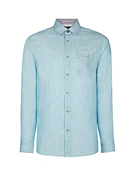 Ted Baker Tall Linen Long Sleeve Shirt