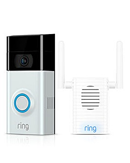 Ring Video Doorbell 2 & Chime Pro Bundle