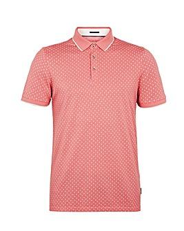 Ted Baker Tall Geo Print Polo Shirt