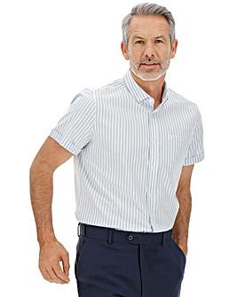 Blue Stripe Short Sleeve Oxford Shirt