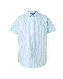 Blue Stripe Oxford Shirt Long