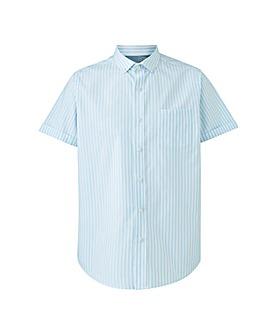 Blue Stripe Oxford Shirt Long