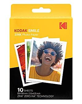 Kodak 3 x 4 10 Pack Zink Paper