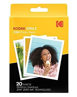 Kodak 3 x 4 20 Pack Zink Paper