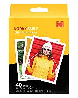 Kodak 3 x 4 40 Pack Zink Paper