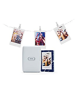 Fujifilm FUJ1932 White Ash Instax Mini Link Printer Bundle