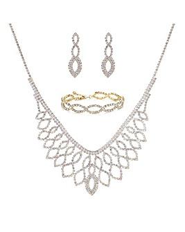 Mood Gold Diamante Jewellery Set