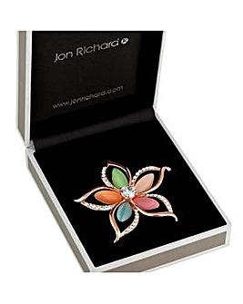 Jon Richard Multi Colour Flower Brooch