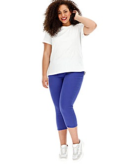 Blue Amber Pull-On Crop Jeggings