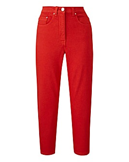 Red Everyday Crop Jeans