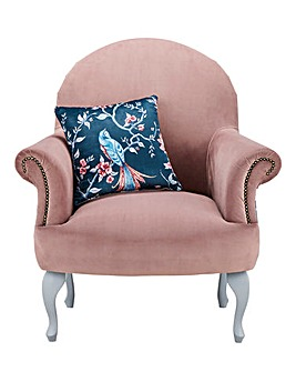 Joe Browns French Blossom Velvet Accent Chair