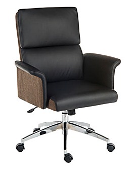 Mosley Faux Leather Midback Chair