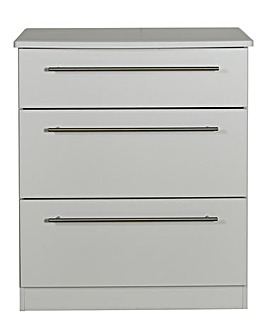 Lulworth Ready Assembled 3 Drawer Deep Chest