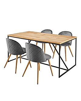 Soho Dining Table & 4 Klara Chairs