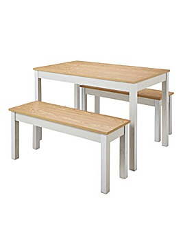 Jaxson Dining Set with 2 Benches