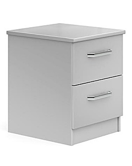 Kendal Assembled 2 Drawer Bedside Table
