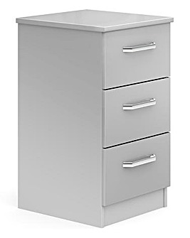 Kendal Assembled 3 Drawer Bedside Table