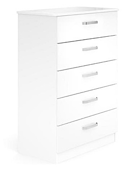 Kendal Assembled 5 Drawer Wide Chest